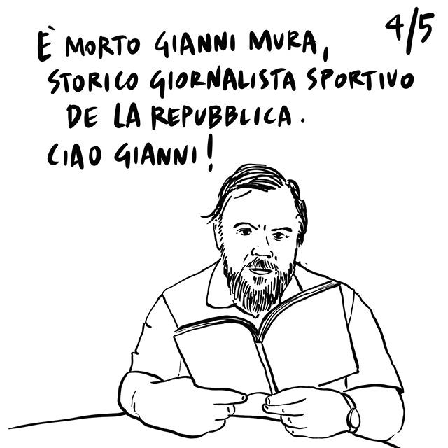 22.03.2020 In Italia chiude tutto, bollettino dei contagi ogni giorno alle 18, muore Gianni Mura, storico giornalista di Repubblica.