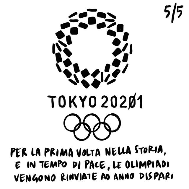 25.03.2020 Rimandate per la prima volta le Olimpiadi ad anno dispari, morto il disegnatore di Asterix, peri il terzo giorno di fila calo di contagi.