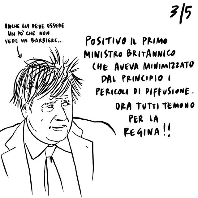 28.03.2020 Mattarella manda un messaggio di incoraggiamento all'Europa, positivo Boris Johnson, gli animali si riprendono la natura.