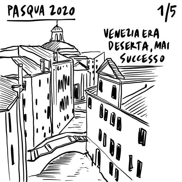 13.04.2020 Venezia deserta come mai prima d'ora, calano i contagiati ma il futuro è incerto, la primatologa Jane Goodal invoca rispetto per gli animali.