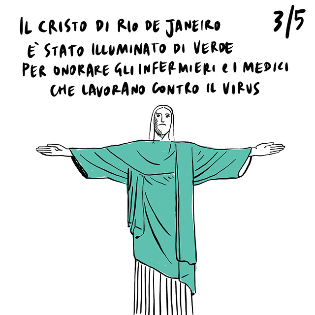 14.04.2020 Riaprono le scuole in Cina, illuminato di verde il Cristo di Rio De Janeiro per celebrare gli operatori sanitari, Boris Johnson, noto per la propria xenofobia, curato da due stranieri.