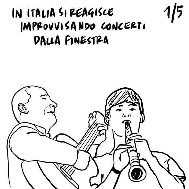 14.03.2020 Concerti  improvvisati dalle finestre in Italia, confini chiusi da molti paesi in Europa, europei di calcio rinviati al 2021?