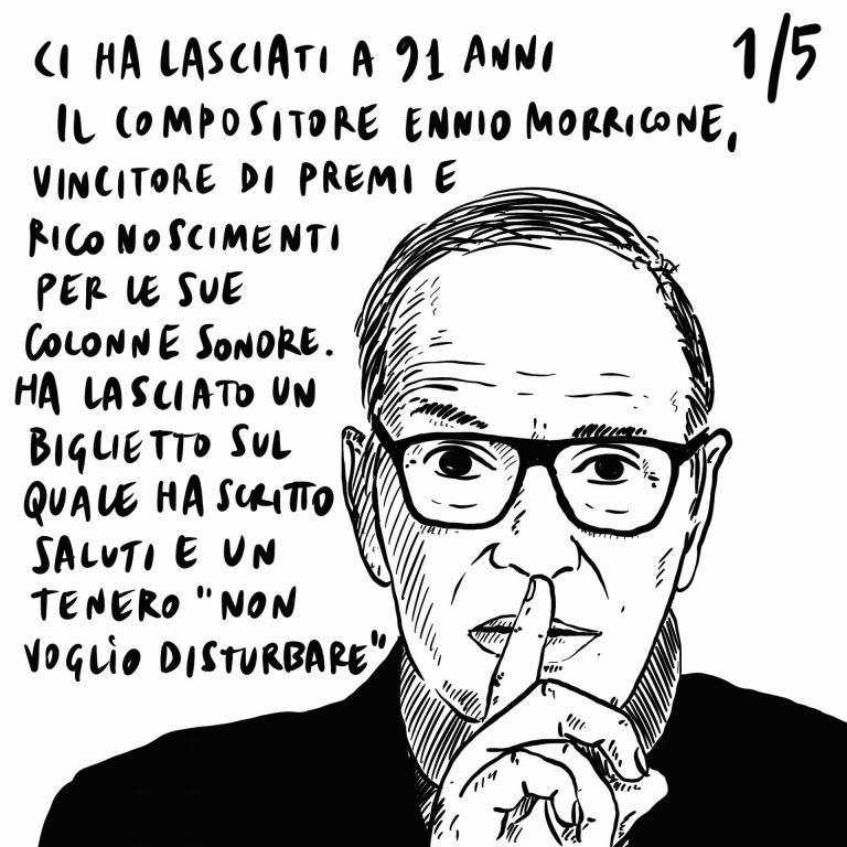 """7.07.20 Muore a 91 anni Ennio Morricone """"non voglio disturbare"""", sblocca cantieri quasi approvato, Bolsonaro, negazionista, forse positivo al covid."""