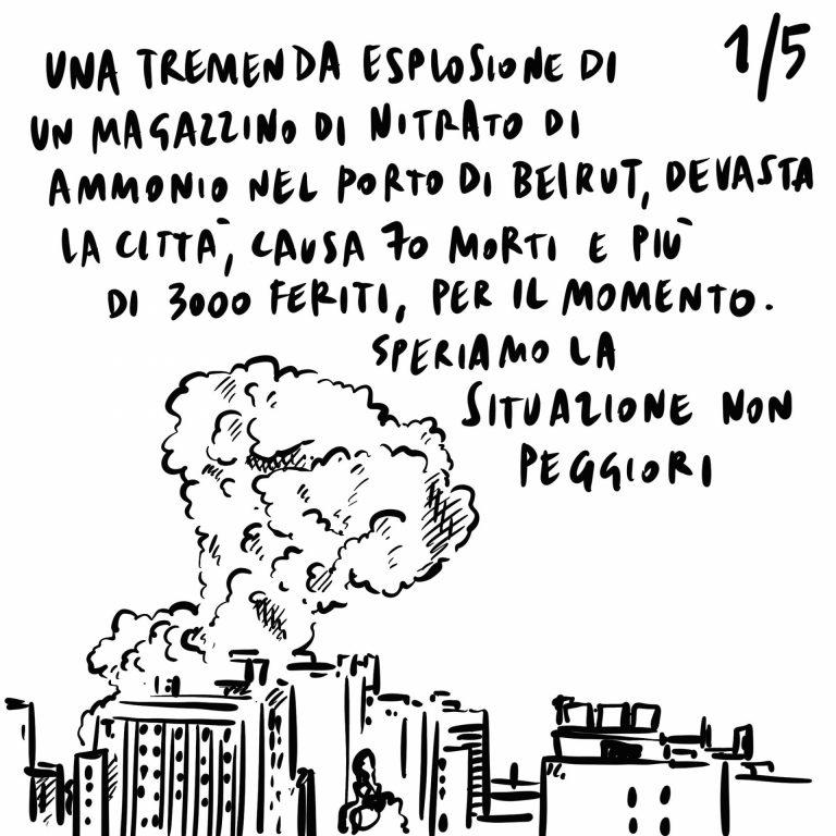 5.08.2020 Esplode un magazzino di nitrato di ammonio a Beirut distruggendo la città, incertezze sul rientro a settembre, un turista austriaco si siede su una scultura di Canova rompendola.