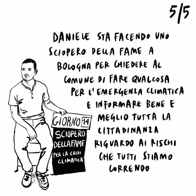 14.09.2020 Arcuri chiede responsabilità, ancora indecisione sul referendum, a Bologna Daniele fa lo sciopero della fame per sensibilizzare sull'emergenza climatica.