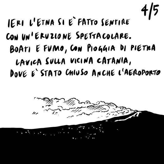 """17.2.2021 Nuova variante scoperta a Napoli, l'Etna erutta, in Svizzera si """"insegna la politica"""" ai bambini."""